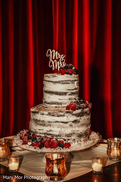 Indian wedding cake at the reception