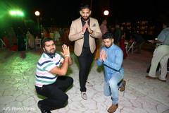 Indian groomsmen posing for photo shoot.