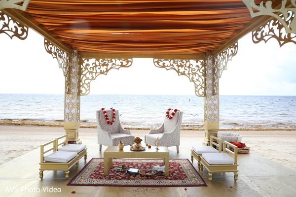 indian wedding ceremony,seats decor,mandap
