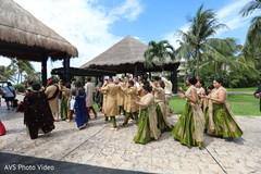 Indian groom's on a baraat pre-wedding ritual.