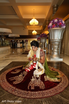 Beautiful Indian bride with her lengha portrait.
