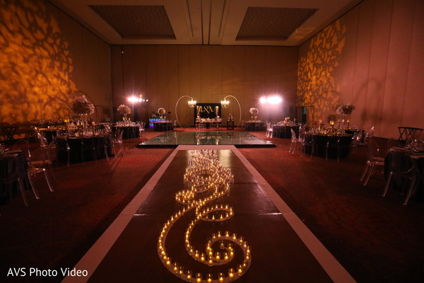 indian wedding reception decor,lights,table setup,stage