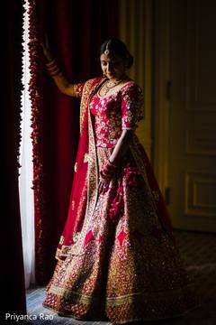 Beautiful Indian bride getting ready.