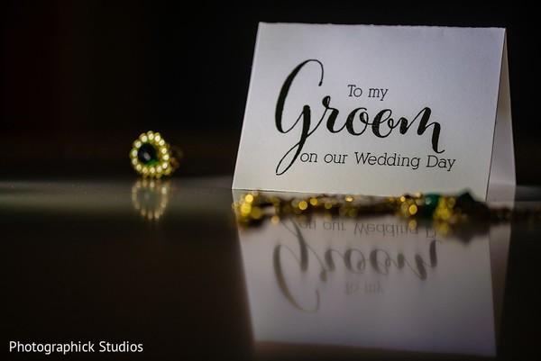 Lovely Indian bride's present for groom.