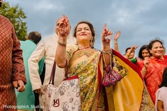 Joyful Indian baraat celebration capture.