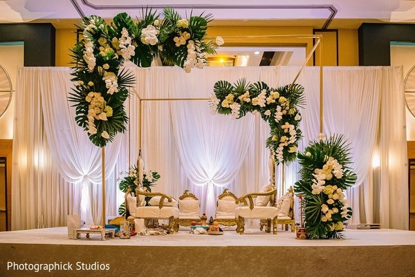 mandap,indian wedding ceremony decor,flowers decor,lights decor