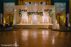Magnificent Indian wedding reception decoration.