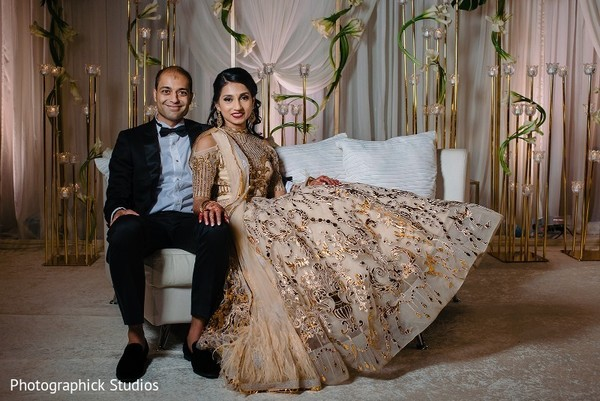 indian bride,indian groom,indian wedding reception fashion