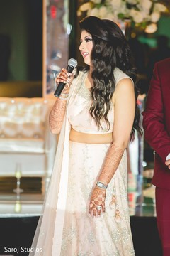 Beautiful maharani delivering a speech