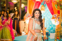 Maharani during the sangeet celebration