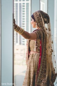 Maharani looking through the window
