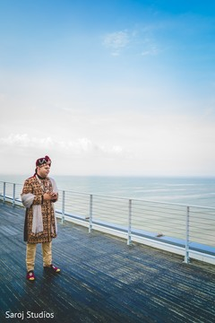 Great capture of the Indian groom outdoors
