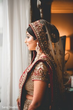 Indian bride waiting for the ceremony