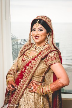 Beautiful maharani wearing the lengha and mehndi