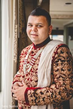 Portrait of elegant Indian groom prior to the ceremony