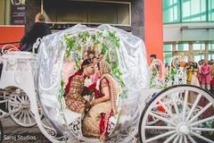 Enchanting moment between Maharani and Indian groom
