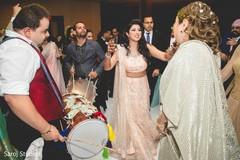Guests and maharani having fun dancing