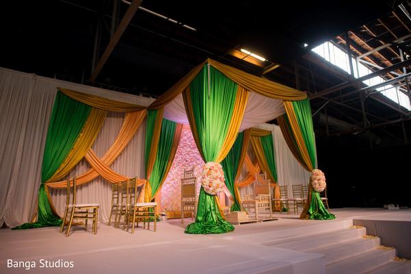 Stunning Indian wedding mandap decor.