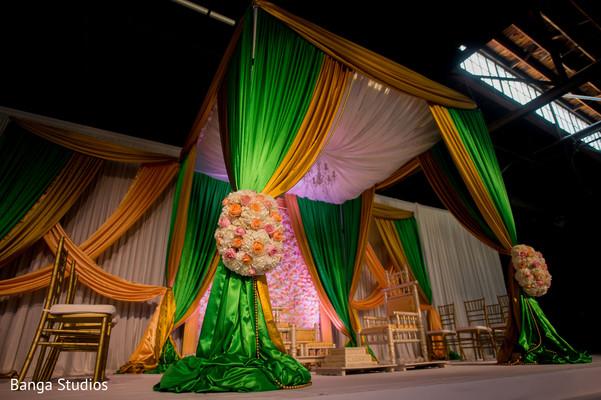 Magnificent Indian wedding mandap draping.