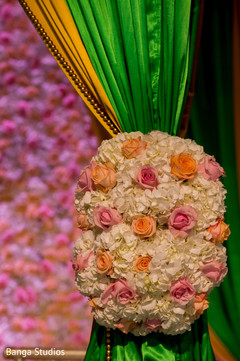 Wonderful Indian wedding ceremony flowers decor.
