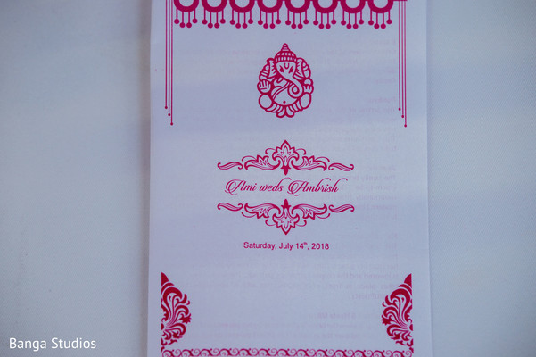 Lovely Indian wedding invitation capture.