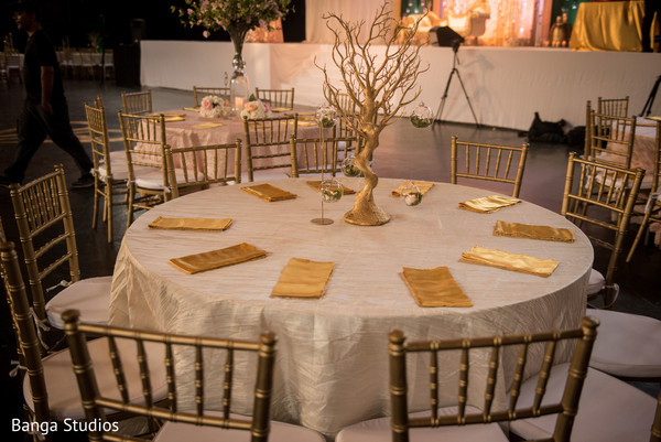 See this dream indian wedding reception table decor.