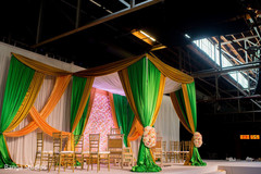 Graceful Mandap in Indian wedding ceremony event decoration.