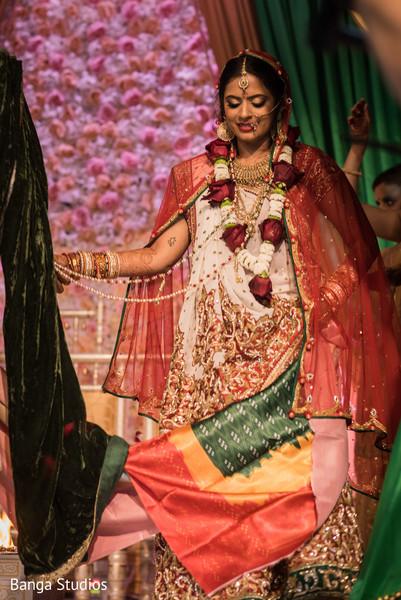 Indian bride during mangal phera.