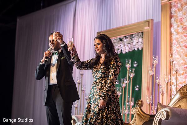 Indian lovebirds toasting capture.