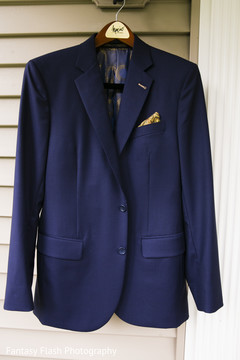 Enchanting grooms ceremony outfit.