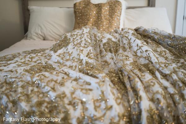 Charming maharanis wedding reception attire.