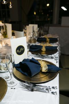 Dreamy Indian wedding reception table setup.
