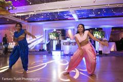 Splendid personalized Indian wedding dance floor.