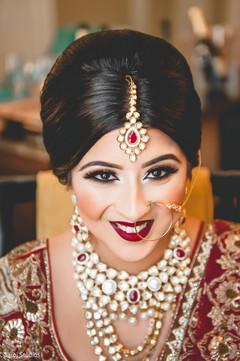 Portrait of beautiful maharani before the ceremony