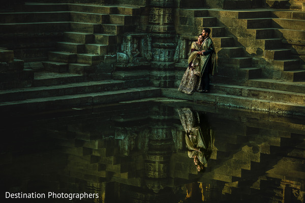Incredible venue hosting the Indian couple's photo shoot