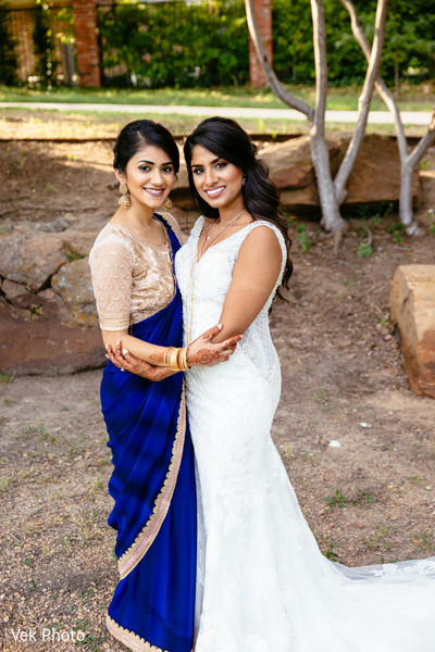 Lovely Indian bride with bridesmaid.