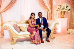 Indian bride and groom's reception photo session.
