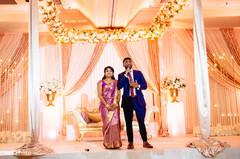 Indian couple's speech moment.