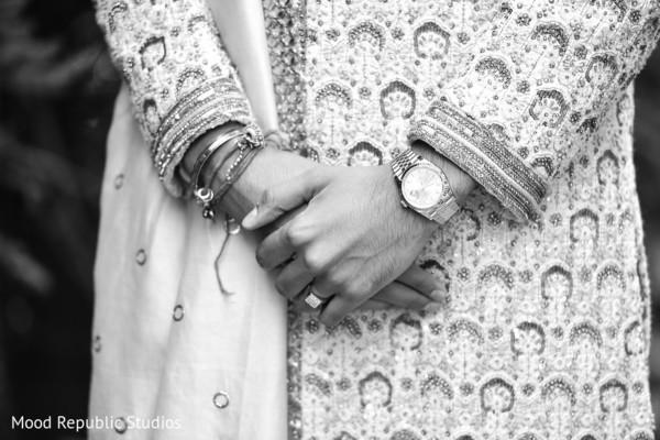 Beautiful shot of Indian groom's accessories