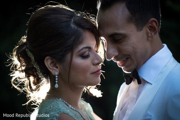 Beautiful portrait of Indian newlyweds