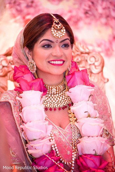 Stunning Indian bride during the ceremony