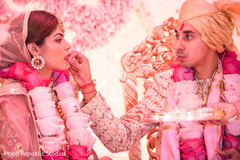 Maharani and Raja during a moment of the ceremony