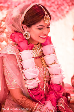 Portrait of the beautiful maharani at the ceremony