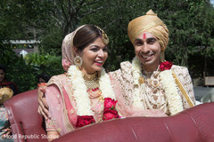 Another angle of cheerful maharani and raja after the wedding