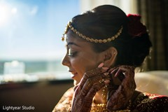 Capture of Indian bride getting ready for her big day