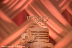 Details of the Indian wedding cake at the reception