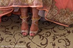 Mehndi design on maharani's feet