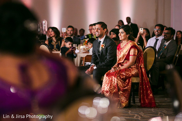 Indian couple during the choreographies