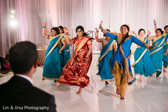 Maharani and Indian bridesmaids performing a choreography