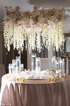 Beautiful details of the floral arrangements